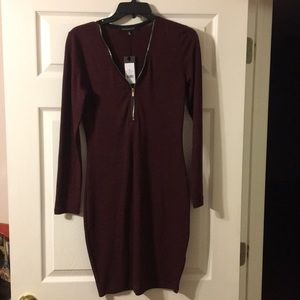 Long Sleeve Dress with Quarter Zip